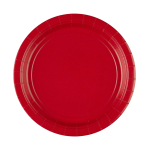 8 Plates Apple Red Paper Round 22.8 cm