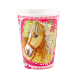 8 Cups Charming Horses Paper 250 ml