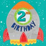 16 Napkins Blast Off Birthday 2nd Birthday 33 x 33 cm