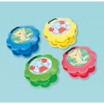 4 Castanets Plastic Assorted 5.8 x 5.8 cm