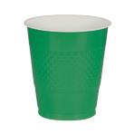50 Cups Festive Green Plastic 473 ml
