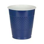 10 Cups Plastic Navy Flag Blue355 ml