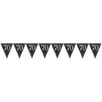 Pennant Banner Sparkling Celebration age 70 Prismatic Foil