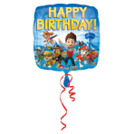 Standard Paw Patrol Happy Birthday Foil Balloon S60 Packaged43 cm