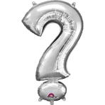 MiniShape Symbol ? Silver Foil Balloon L16 Packaged 27cm x 40cm