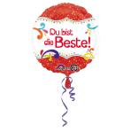 Standard Du bist die Beste Foil Balloon round S40 packed 43 cm