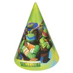 6 Party Hats Teenage Mutant Ninja Turtles