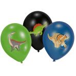 "6 Latex Balloons Happy Dinosaur 27.5 cm / 11"""