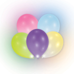 """12 Latex Balloons LED assorted 27.5 cm /11"""""""