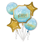 Bouquet Blue Baby Boy Foil Balloon P75 Packaged