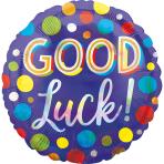 Standard Good Luck Dots Iridescent Foil Balloon S55 packaged