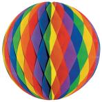Honeycomb Decoration Rainbow Paper flame retardant 60 cm