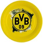 8 Plates BVB Dortmund Paper 23 cm