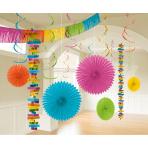 Decoration Kit Multi Colour Paper / Foil 18 Parts 274 cm / 213 cm / 20.3 - 55.8 cm