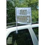 Flag Car Just Married Fabric 35.5 x 45.7 cm