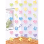 6 String Decorations Baby Shower Foil 213 cm