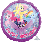 Standard Holographic MLP Friendship Adventure HBD Foil Balloon S60 Packaged