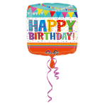 Standard Bright & Bold Happy Birthday Foil Balloon S40 Packaged 43 cm