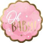 "Jumbo HX Pink Baby Girl Foil Balloon P32 Packaged 22""/55cm w x 22""/55cm h"
