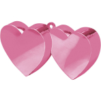 Balloon Weight Double Heart Pink 170 g/6 oz