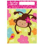 8 Loot Bags Monkey Love 22.8 x16.5 cm