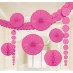 9 Damask Decoration Kit BrightPink