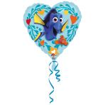 """Standard """"Finding Dory Love"""" Foil Balloon Heart, S60, packed, 43 cm"""