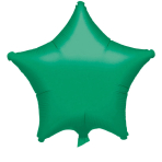 "Standard ""Metallic Green"" Foil Balloon Star, S15, packed, 48cm"