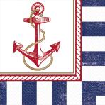 16 Napkins Anchors Aweigh 33 x 33 cm