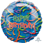 "Jumbo ""Celebration Streamers"" Foil Balloon, P35, packed, 81 x 81 cm"