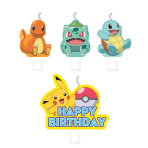 4 Mini Character Candles Pokemon Height 5.5 / 7.8 cm