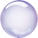 Clearz Petite Crystal Purple Foil Balloon S15 Packaged