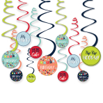 12 Swirl Decorations A Reason To Celebrate Paper / Foil 61 c