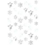 6 String Decorations Snowflake Foil 213 cm