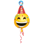 Junior Shape BDay Emoticon Foil Balloon, S50, packed, 35x63  cm