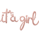 CI: Phrases Script Phrase It's A Girl Rose Gold Foil Balloon G50 Packaged
