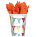 8 Cups Barnyard Birthday Paper 250 ml