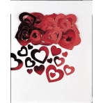 Confetti Die-Cut Hearts Metallic 14 g