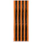 Door Curtain Black-Orange Metallic Plastic 243 x 91.4 cm