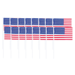 120 Picks Flags Patriotic Plastic 6.5 cm