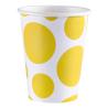 8 Cups Sunshine Yellow Dots Paper 266 ml
