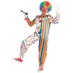 Child Costume Clown Jumpsuit Age 8 - 10 Years