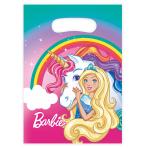 8 Party Bags Barbie - Dreamtopia Plastic 23.4 x 16.2 cm