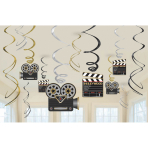 12 Swirl Decorations Hollywood Foil / Paper 61 cm