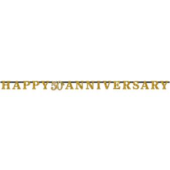 Letter Banner Gold Anniversaries Paper 300 x 17 cm