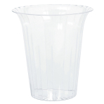 Cylinder Container Flared     Plastic Round Medium 14.3 x   14.9 cm