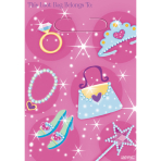 8 Party Bags Princess Plastic 29.7 x 16.3 cm