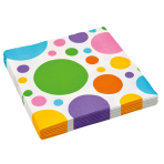20 Napkins Dots rainbow 33 x 33 cm