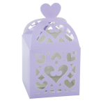 50 Favour Boxes Colourful Wedding Lilac 6.3 x 6.3 x 6.3 cm