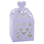 50 Favour Boxes Colourful Wedding Lilac 6.3 x 6.3 x 6.3 cm